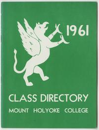 Class of 1961 Directory, with griffin and sphinx emblems