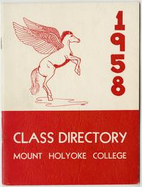Class of 1958 Directory, with pegasus and lion emblems