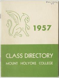Class of 1957 Directory, with griffin emblem