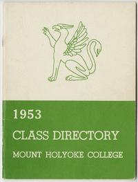 Class of 1953 Directory, with griffin and sphinx emblems