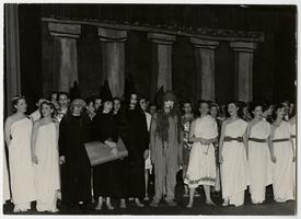 Students from the Class of 1950 performing in Sophomore Skit