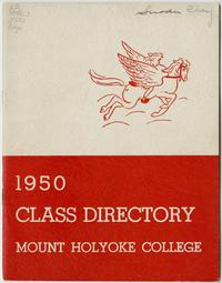 Class of 1950 Directory, with pegasus and lion emblems