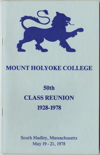 Class letter of the Class of 1928, for their 50th reunion, with lion emblems