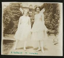 Album of Elsa (Elsie) Bonitz Dineen, Class of 1921, showing students in pageant costumes