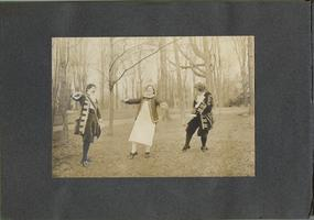 Album from the Class of 1906, depicting students in costumes