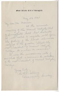 Letter from Ruth R. Belding to Alva Morrison