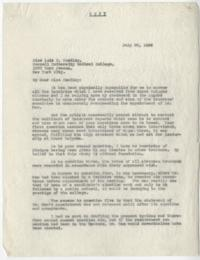 Letter from Alva Morrison to Lois M. Smedley, with attached list of recipients of this letter