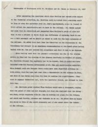 Memorandum of Conference with Mr. Morrison and Mr. Hazen on February 16, 1937, by Mary E. Woolley