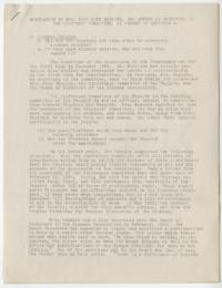 Memorandum by Mrs. Mary Hume Maguire