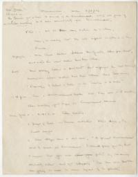 Memorandum from a meeting about the selection of Roswell G. Ham to succeed Mary E. Woolley as president of Mount Holyoke College