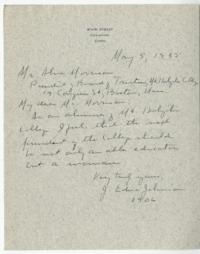 Letter from J. Edna Johnson to Alva Morrison