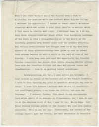 Draft of speech given by Alva Morrison to the faculty at the Faculty Meeting held on April 15, 1935