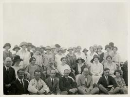 Group of associates of the American Academy in Rome, with Marion Blake seated in center