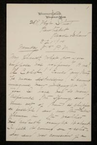 Correspondence from Mary Woolley to Jeannette Marks