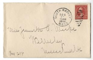 Letter and envelope from Mary Woolley to Jeannette Marks