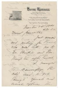Letter from Mary Woolley to Jeannette Marks