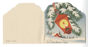Christmas gift enclosure card from Mary Woolley to Jeannette Marks