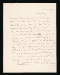 Letter from Jeanette Marks to Mary Woolley, dated circa October 28, 1938