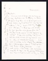 Letter from Jeanette Marks to Mary Woolley, dated November 9, 1938