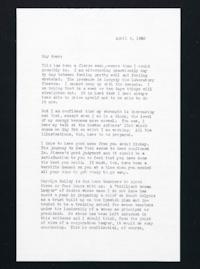 Letter from Jeanette Marks to Mary Woolley, dated April 6, 1940