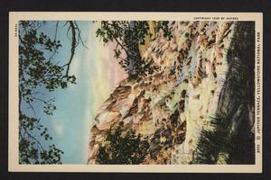 Postcard with an illustration and description of Jupiter Terrace at Yellowstone Park.