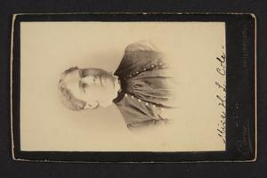 Portait of Miss H. L. Cole.