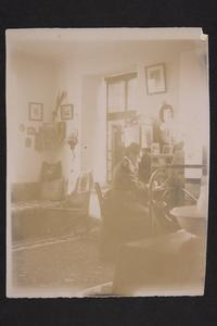 Rada Pavlova writing in her room at the American School at Monastir.