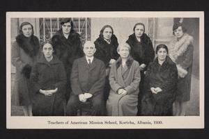 Teachers of American Mission School, Kortcha, Albania.