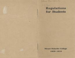 Regulations (1909-1910)