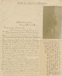 Viette Brown Sprague letters to Anna C. Edwards, with photographs