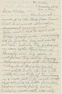 Margaret L. Chapin letter to Sarah W. Chapin, October 6, 1921