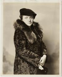 Frances Perkins in a fur coat