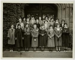 """Mount Holyoke in Hartford"" students on a weekend visit to the Mount Holyoke campus as guests of the Class of 1935"