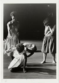 Students in a modern dance performance