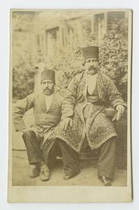 Two Persian men, probably in the Van area of Turkey, where the Ely sisters were missionaries
