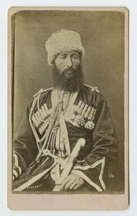Officer of the Cossacks, cabinet card portrait from the time of the Ely sisters' missionary work in eastern Turkey