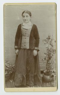 Armenian girl, possibly a student at the school founded by Charlotte and Mary A. C. Ely in Bitlis, Turkey