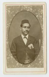 B. Mihran, cabinet card portrait of an Armenian man in Bitlis, Turkey, during the time of Charlotte and Mary A. C. Ely