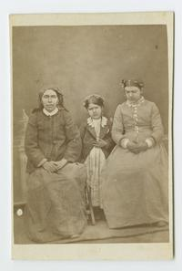 """Azniv and mother and cousin,"" an Armenian family known to the Ely sisters when they were missionaries in Bitlis, Turkey"