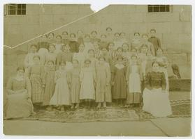 Students at the school founded by Charlotte and Mary A. C. Ely in Bitlis, Turkey