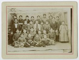Armenian children at school in the area of Bitlis, Turkey, during the time of the Ely sisters' missionary work there