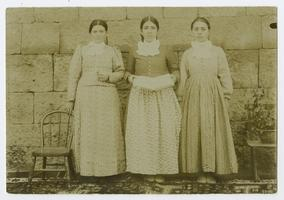 Three girls, possibly students at the Mount Holyoke Female Seminary in Bitlis, Turkey, founded by the Ely sisters