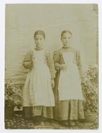 Two girls, possibly students at the Mount Holyoke Female Seminary in Bitlis, Turkey, founded by the Ely sisters