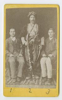 Three men known to the Ely sisters during their time as missionaries in Turkey, l-r: Tavit, a student; Israel, a servant; and Muckitar, a student