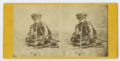 Opium smoker, by photographer J. Cady; presented to the Ely sisters by Mr. Knapp in December, 1870