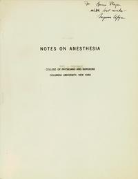 Notes on Anesthesia