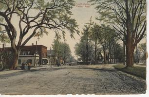 Postcard of College Street and South Hadley Center, ca. 1903