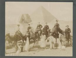 Anna C. Edwards in Front of the Great Sphinx, 1902
