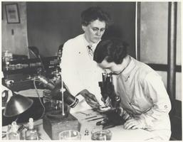 Ann Morgan and a Student in Zoology, Ca. 1930