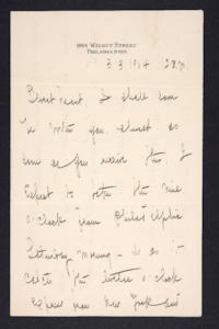 Letter from Mary Woolley to Jeannette Marks, 1904 March 3